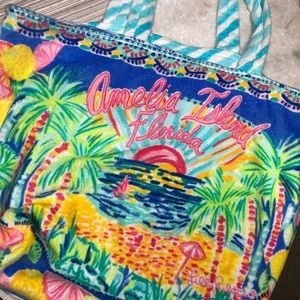 Lilly Pulitzer Bags - Lilly Pulitzer Amelia Island Beach Tote NWT